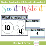 Number Bonds within 10 Interactive PowerPoint