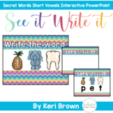 Secret Words - Mixed Short Vowel CVC Word Work Interactive