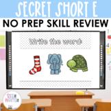 Short E CVC Word Work Secret Interactive Powerpoint