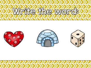 Short I CVC Word Work Interactive Powerpoint: Secret See it. Write it.