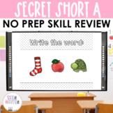 Secret Words - Short A CVC Word Work Interactive Powerpoint