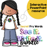Fry Words Activities: Secret Interactive Word Work Activities Bundle