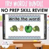 Fry Words Activities: Secret Interactive Word Work Activit