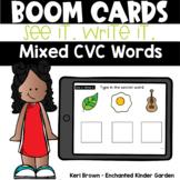 See it Write it Secret Mixed CVC - Boom Cards