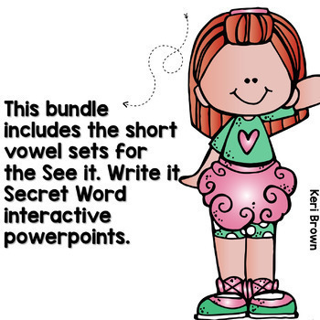 Short Vowels Word Work, CVC Words Interactive Powerpoint