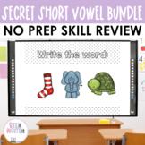 Secret Words Bundle - Short Vowels Word Work, CVC Words
