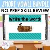 CVC Short Vowels Word Work Interactive PowerPoint Bundle