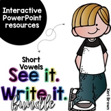Kindergarten Short Vowels Word Work/ First Grade Short Vow