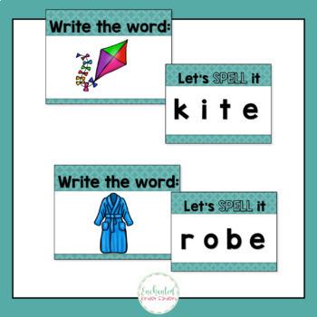 Silent E Word Work: Silent E Activities, Interactive Powerpoint