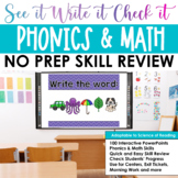 Word Work, Sight Words, Vowels, Math: See it. Write it. -