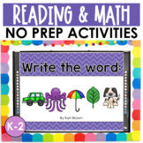 Word Work, Sight Words, Vowels, Math: See it. Write it. - The Bundle