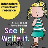 See it. Write it. Word Family BUNDLE Interactive PowerPoint
