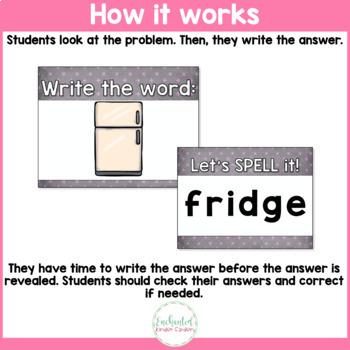 See it. Write it. -dge Consonant Pattern Interactive PowerPoint