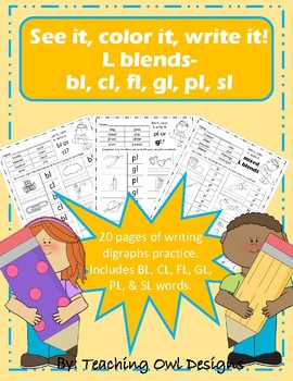 See it, color it, write it: L blends
