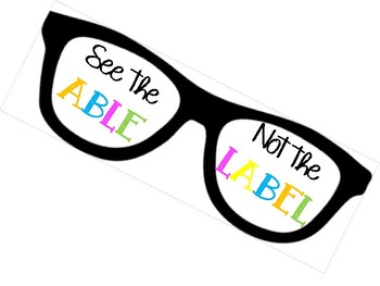 See the ABLE; not the LABEL Poster