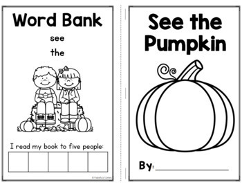 Pumpkin Emergent Reader FREE