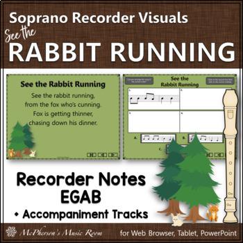 "Recorder Song ""See the Rabbit Running"" (Notes EGAB) sopran"