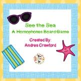 Homophones Board Game:  Summer Themed