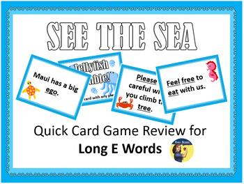 See the Sea - Long E Card Game