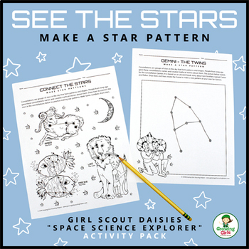 """See the Stars - Girl Scout Daisies - """"Space Science Explorer"""" (Step 3)"""