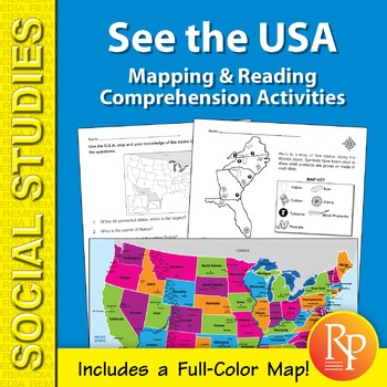 See the USA: Mapping & Reading Comprehension Activities