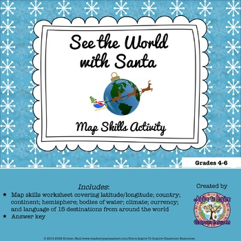 FREEBIE See the World with Santa Map Skills Activity