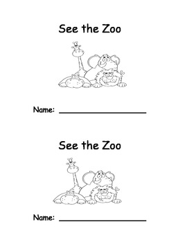 See the Zoo Emergent Reader