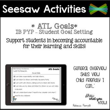 Seesaw Activities - ATL Skills - Student Goal Setting