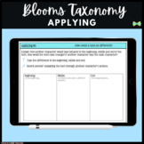 Seesaw Activities - Blooms Taxonomy Applying - Guided Reading Response Pages