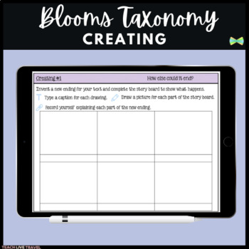 Seesaw Activities - Blooms Taxonomy Creating - Guided Reading Response Pages