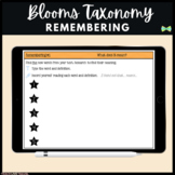 Seesaw Activities - Blooms Taxonomy Remembering - Guided Reading Response Pages