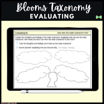 SeeSaw Activities - Blooms Taxonomy Evaluating - Guided Reading Response Pages