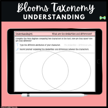Seesaw Activities - Blooms Taxonomy Understanding - Guided Reading Responses