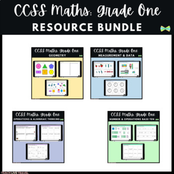 Seesaw Activities - CCSS - Grade One Bundle - 136 Pages - First Grade Math