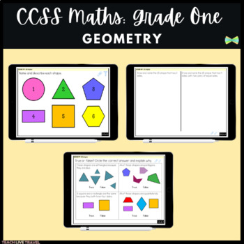 Seesaw Activities - CCSS - Grade One Geometry - First Grade Math