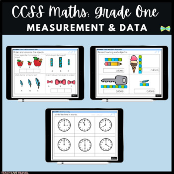 Seesaw Activities - CCSS - Grade One Measurement & Data - First Grade Math
