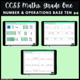 Seesaw Activities - CCSS - Grade One Number & Operations - First Grade Math