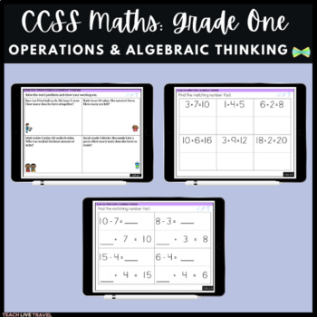 Seesaw Activities - CCSS - Grade One Operations & Algebraic Thinking  - Math