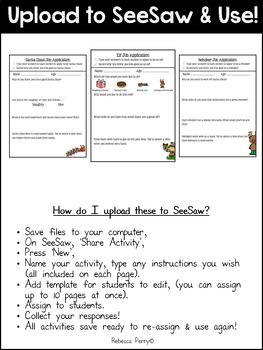 Seesaw Activities - Christmas Edition - Christmas Job Applications