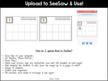 Seesaw Activities - Christmas Edition - Emoji Ten Frames