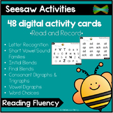 Seesaw Activity Templates - Reading Fluency Cards - 48 Activity Cards