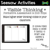 Seesaw Activity - Digital Formative Assessment, Exit Slips, Graphic Organizers