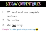 SeeSaw Comment Rules
