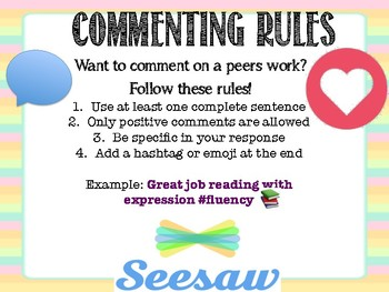 SeeSaw Commenting Rules