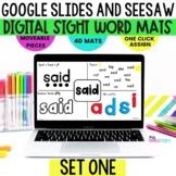 SeeSaw Google Classroom Kindergarten First Grade Activities, Sight Word Mats 1
