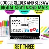 SeeSaw Kindergarten First Grade Activities, Sight Word Mat