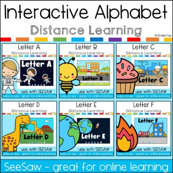 SeeSaw Kindergarten Interactive Alphabet Lessons A-Z Bundle Distance Learning