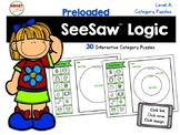 SeeSaw™ Logic Category Puzzles Level A Distance Learning