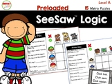 SeeSaw™ Logic Matrix Puzzles Level A  Distance Learning