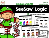 SeeSaw™ Logic Ordinal Puzzles (Holiday and Winter) Level A